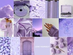Boujee lavender aesthetic wall collage kit (Digital Download) 60pcs