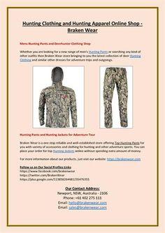 Hunting Clothing and #HuntingApparel Online Shop - Braken Wear  http://www.authorstream.com/Presentation/brakenwear-3335556-hunting-clothing-apparel-online-shop-braken-wear