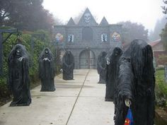 Entrance to haunted house
