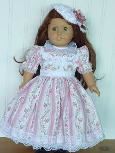 """American Girl Doll Clothes- Miss Rose Mary, 3-Piece Doll Outfit. Handmade by The Trendy Doll for 18"""" American Girl Doll. $25.00, via Etsy."""