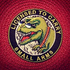 """License To Carry Small Arms"""" morale patch · Zombie Tactical Cord ..."""