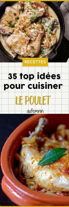 Grillé mariné ou mijoté en sauce, au four ou à la cocotte, au barbecue, en brochette ou sur une salade... découvrez nos meilleures recettes pour cuisiner le poulet. Cette viande blanche peu grasse qui gagne à retrouver ses lettres de noblesse pour vous apporter des protéines, avec des saveurs qui font saliver ! /// #aufeminin #poulet #volaille #plat #cuisine #cuisiner #recette #viandeblanche #recettepoulet #platdeviande #tajine #brochette #mijoter