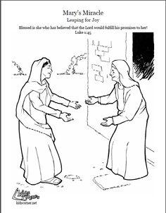 Luke 1:39-56: Mary Visited Elizabeth; Mary & Elizabeth ...