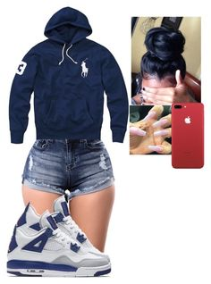 A fashion look from September 2017 by lanadabest featuring Polo Ralph Lauren and NIKE Jordan Outfits For Girls, Teenage Girl Outfits, Girls Fashion Clothes, Teen Fashion Outfits, Teenager Outfits, Freshman Outfits, Cute Lazy Outfits, Cute Swag Outfits, Dope Outfits