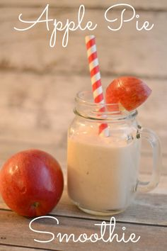 Apple Pie Smoothie Smoothies with Applesauce. Flaxseed in smoothies(Healthy Ingredients Apple Pies) Apple Smoothie Recipes, Apple Smoothies, Yummy Smoothies, Juice Smoothie, Smoothie Drinks, Yummy Drinks, Making Smoothies, Protein Smoothies, Fun Drinks