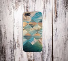 Geometric Clouds x California Ocean Case for iPhone 5/5s, iPhone 5C, iPhone 4/4s, and Samsung Galaxy