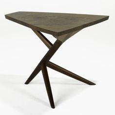 vjeranski: George Nakashima, Conoid Three-Legged End Table, 1972.