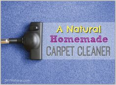 This homemade carpet cleaner spray works on tough messes and dirty carpets. It also gets rid of unpleasant smells, it's all natural, and is simple to make and use!