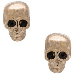 GIVENCHY Skulls Earrings ($295) ❤ liked on Polyvore featuring jewelry, earrings, accessories, skull jewellery, gold tone earrings, givenchy, gold tone jewelry and skull earrings