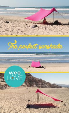 Hitting the beach on vacay but worried about sun protection? This sun tent folds small enough to fit in your suitcase and weighs less than 5 pounds.