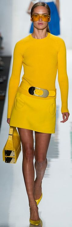 yellow jumper dress @roressclothes closet ideas women fashion outfit clothing style Michael Kors SS 2013: