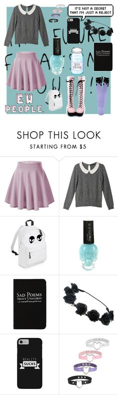"""Pastel Goth Back to School"" by casleighj ❤ liked on Polyvore featuring Claudine, Hot Topic and Rich and Damned"