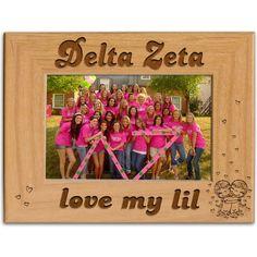 Delta Zeta Sorority Love My Lil Picture Frame