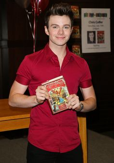 Chris Colfer signed copies of his new book, The Land Of Stories: A Grimm Warning.