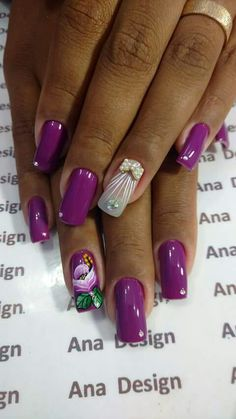 Nail Art, Enamels, Amor, Florals, Happy Birthday, Nail Arts, Nail Art Designs