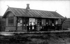 Bilitt jernbanestasjon Skreiabanen betjening og passasjerer Skreiabanen ble nedlagt i 1988 og Bilitt stasjon revet Oppland fylke Østre Toten kommune stp 1912