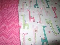 Baby Quilt Girl Pink Giraffes Baby Bedding Girl by diningout, $105.00