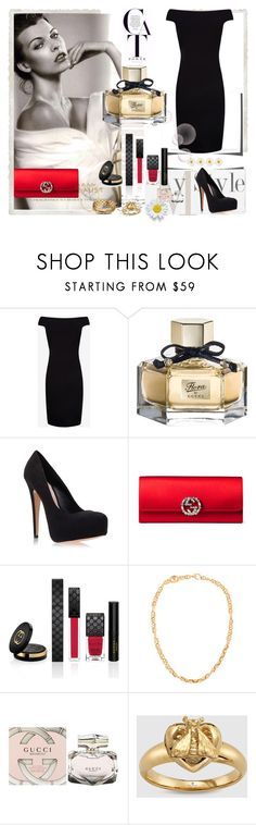 """Milla Jovovich"" by dudavagsantos ❤ liked on Polyvore featuring Donna Karan, Ted Baker, Gucci, Carvela Kurt Geiger and millajovovich"