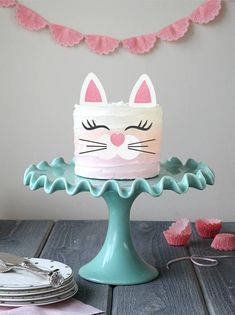 Kitty Cake Topper Set 1 Cake Topper Set (2 ears, 2 eyelashes & 1 nose with whiskers piece) Size of ears: 2.5H x 1.5W Size of eyelashes: 0.75H x 2W Size of nose/whisker: 1.5 It will easily transform any homemade or store bought cake into a magical one! Create your own adorable kitty cake with this set. Just add a touch of icing to the back of the eyelashes and nose piece as glue and stick the ears right on top! This Cake Topper was designed using high quality non-shed glitter c...