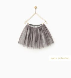 Image 1 of SHINY TULLE SKIRT from Zara
