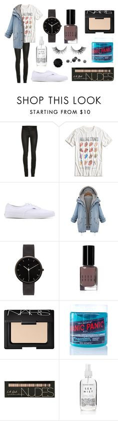 """""""ootd"""" by lauren-536 ❤ liked on Polyvore featuring Lucky Brand, Vans, I Love Ugly, Bobbi Brown Cosmetics, NARS Cosmetics, Manic Panic, tumblr, vans and rollingstones"""