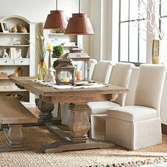 Home Decorators Collection Aldridge Antique Walnut Wood Dining Bench 2838500960 at The Home Depot - Mobile Dining Room Design, Dining Room Furniture, Dining Room Table, A Table, Dining Chairs, Dining Rooms, Resin Furniture, Condo Furniture, Dining Area