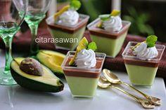 Puding Coklat Avocado / Avocado Chocolate Pudding | Resipi Citarasawan