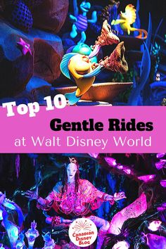 Our list of the top 1 gentle and slow rides at Walt Disney World. If you're not much for thrill rides, check out our list and add these ten attractions to your Disney must-do list for your 2020 and 2021 vacation! Disney World Guide, Disney World Secrets, Disney World Tips And Tricks, Disney Planner, Disney Vacation Planning, Disney World Planning, Disney World Florida, Disney World Parks, Walt Disney World Vacations