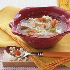 Excellent, healthy chicken soup - tastes delicious and is brimming with healthy vegetables. Click for recipe
