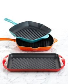 Stove top grilling pans...get grilled marks. I don't have a BBQ at my apartment so works great.