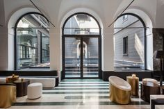 Hotel Senato - Hotel Senato is a Milanese travel destination that will appeal to Art Deco design fans. The opulent hotel is not only spacious and architecturally . Hotel Lobby, Casa Hotel, Hotel Lounge, Lobby Lounge, Art Deco Hotel, Design Hotel, House Design, Lobby Design, Architecture Design