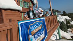 """Kristoff and Olaf from Disney's hit animated film """"Frozen"""" are on their way from Arendelle to help host the inaugural """"Frozen"""" Games at Disney's Blizzard Beach Water Park this summer. Walt Disney World, Disney Water Parks, Disney World Vacation, Disney World Resorts, Disney Vacations, Orlando Florida, Legoland Florida, Disney Blizzard Beach, Frozen Games"""