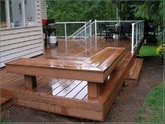 ground level deck with canopy - Google Search