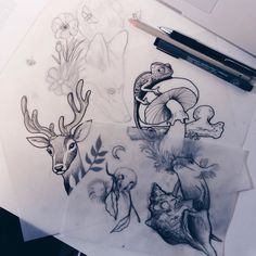 """hell-patrol: """"new designs in the making for my guestspot in oslo at…"""