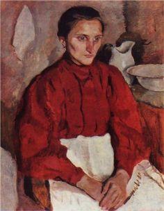Portrait of a nurse - Zinaida Serebriakova