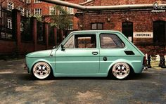 Fiat 126, Pinstriping, Retro Cars, Vintage Cars, Fiat Models, Old Hot Rods, American Classic Cars, Small Cars, Motor Car