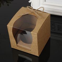 12 pcs Brown Kraft Paper Favor Box
