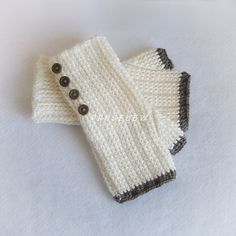 Ravelry: Comfy Ribbed Fingerless Mitts EASY crochet pattern