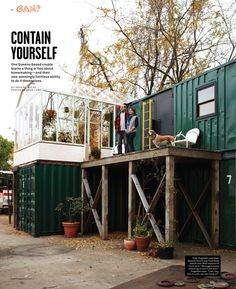 Contain Yourself. Container Living for Foam Magazine.