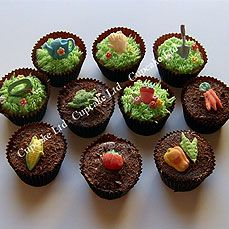 gardening party cupcakes
