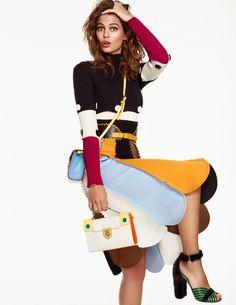 O editorial divertido e colorido da Elle Espanha dezembro 2016 • Living Gazette