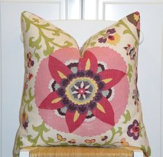 Beautiful Decorative Pillow Cover  Floral  by TurquoiseTumbleweed