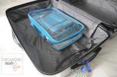 Store packing cubes inside suitcases for the next time you travel :: OrganizingMadeFun.com