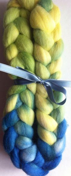 I love green and blue Merino Spinning fiber by Ulljente on Etsy Spinning, Fiber, Hand Painted, Wool, My Love, Green, Blue, Etsy, Hand Spinning