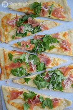 Serrano Ham, Ham Pizza, Tapas, Calzone Recipe, Vegan Gains, Real Food Recipes, Healthy Recipes, Cocina Natural, Gastronomia