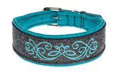 """Besticktes Halsband """"Queens and Kings"""". Breite ca. 4 cm, in zahlreichen Farbkombinationen erhältlich."""