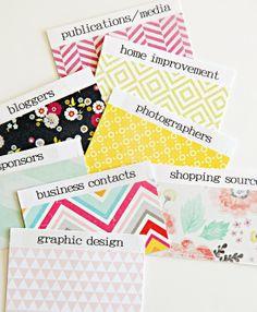 IHeart Organizing: DIY Business Card Organization