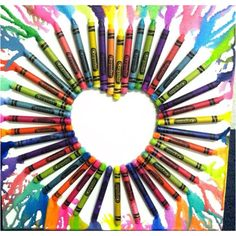 Melted crayons :)) so proud