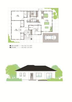 平屋 S‐No.6 忙しい主婦のために効率の良い家事動線で応援-新築・注文住宅 鹿児島 カマダの家