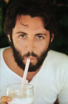 Paul McCartney photographed by Linda Eastman McCartney, 1970.